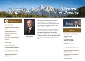 wyomingbankingdivision.wyo.gov