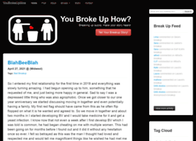 youbrokeuphow.com