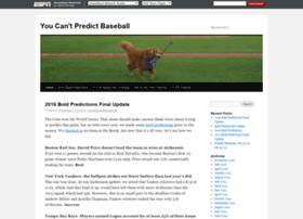 youcantpredictbaseball.com