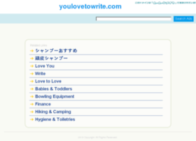 youlovetowrite.com