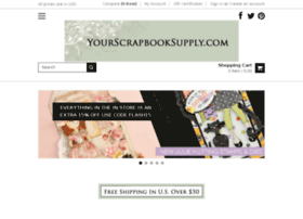 yourscrapbooksupply.com