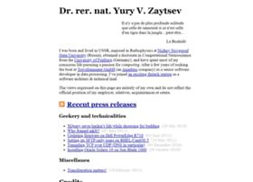 yury.zaytsev.net