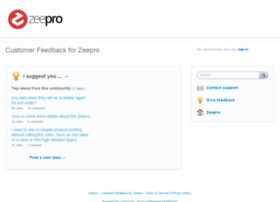 zeepro.uservoice.com