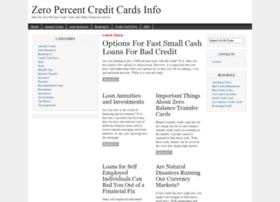zeropercentcreditcardsinfo.com