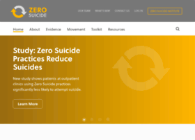 zerosuicide.actionallianceforsuicideprevention.org