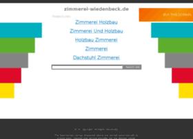 zimmerei-wiedenbeck.de
