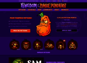 zombiepumpkins.com small Free Snoopy Pumpkin Carving Patterns